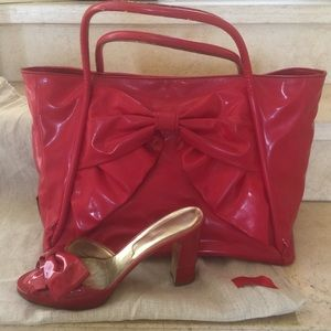 SALE🎊VALENTINO HOT RED BOW TOTE 🎊HP
